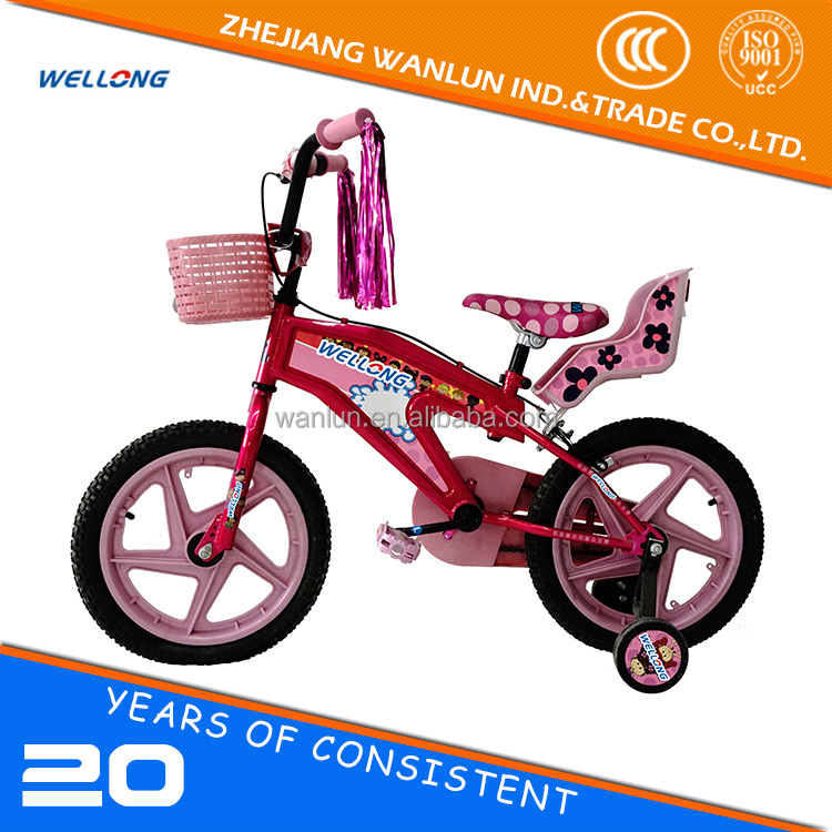 Factory direct supply girls red 16 Inch price child small bicycle