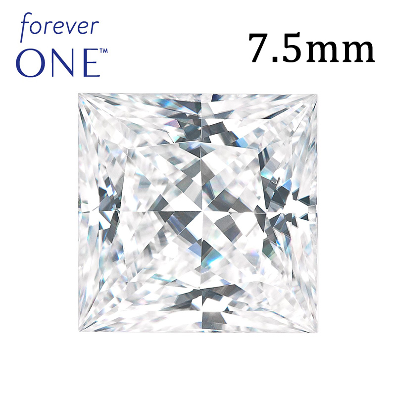2.5Carat VVS D Colorless Forever One Princess Cut Moissanite <strong>Diamond</strong>