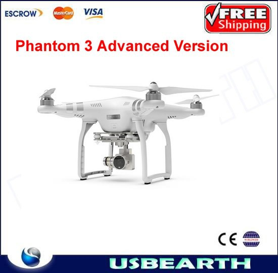 DJI Phantom 3 Advanced Version With 1080P HD Camera RC Quadcopter with Extra Battery Ready to Fly,Simply connect ,auto element