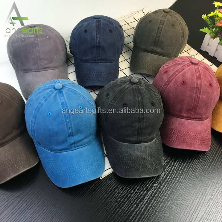 Top sell high standard washed denim fabric OEM ODM dad hat 6 panel baseball trucker caps