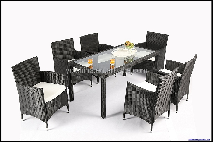 6/8 person dining chairs rattan dining table set YKD-16