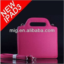 carry bag for Ipad 3, shoulder strap leather bag