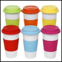 TRAVEL COFFEE lid TEA MUG CUP SILICONE SLEEVE CAMPING OUTDOOR HOT DRINK plastic cups,custom plastic travel coffee cups suppliers