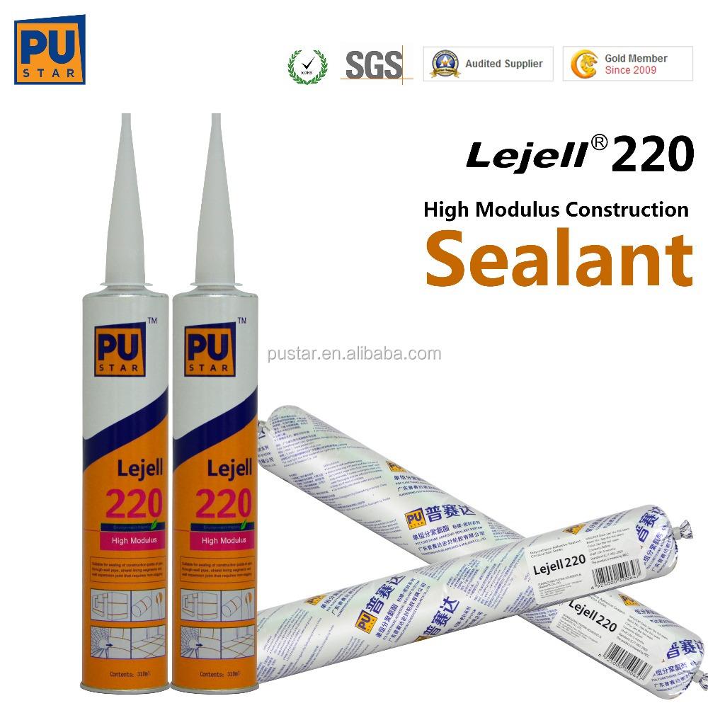 PU sealant MS silicon sealant High modulus polyurethane sealant for construction (600ML SAUSAGE)Lejell 220