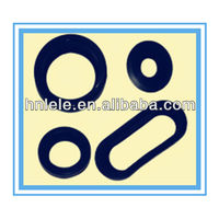 Black Oval Rubber Grommet Customized