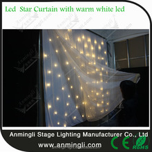 Portable led star cloth / CE DMX led curtain