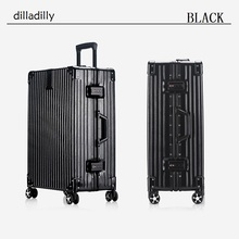 2016 newest pc abs aluminum frame luggage trolley case with 4 360 degree wheel