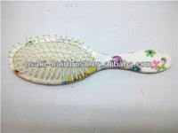 beauty printed for one side hair brush , colorful hair brush made in china