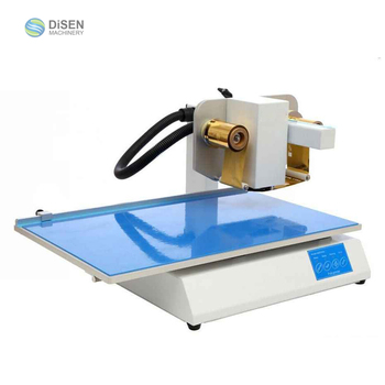 Book cover PVC plastic bag bronzing label logo automatic digital hot stamping machine for leather