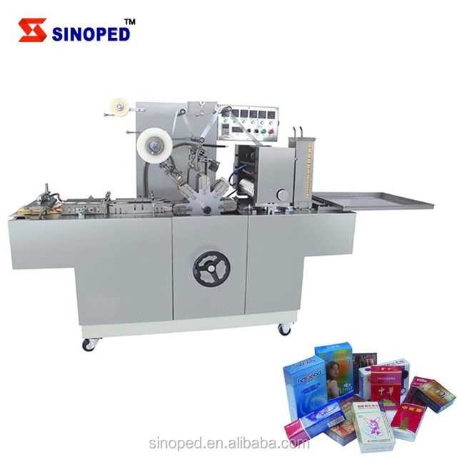 cigarette box packing machine / automatic cigarette box cellophane packing Machine