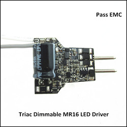Pass EMC 12v dc Input 7w Dimming Constant Current LED Driver for MR16