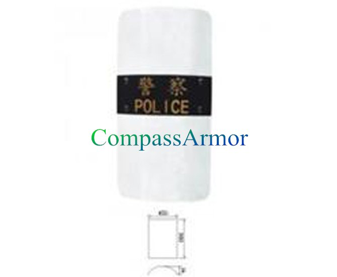 990 x 550 x 3 / 3.5 mm Clear Polycarbonate Law Enforcement Police Riot Shield