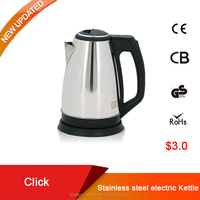 Stainless steel electric kettle 2.0L, electric water jug, electric tea kettle tray set