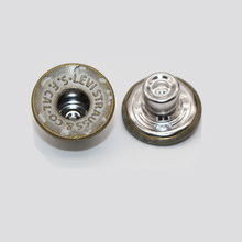 nickel lead free metallic tack button for denim jacket
