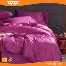 100% cotton hotel collection plain fabric full size bedding sets