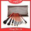 MSQ 10pcs Professional Alligator Skin Case Makeup Brush Kit