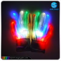Halloween LED Glowing Skeleton Gloves with Multicolor Modes