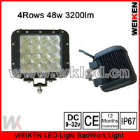 Wireless Wholesale Cre e 4 Row 48w 4X4 Led work light 3w LED Offroad atv utv suv Jp Truck Auto Lighting System