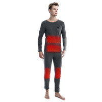 Best Choice for Winter Men's Electrical Carbon Heated Long Johns Thermal Underwear