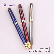 Promotional great quality exporting no minimum order metal ball pen