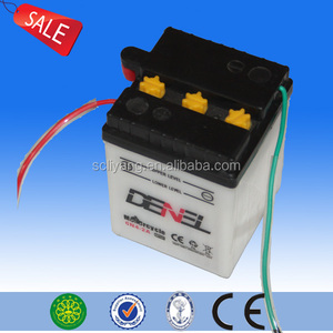 6N4-2A-4 6V4Ah flooded conventional dry charged Motorcycle battery