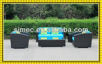 modern design all weather PE rattan wicker outdoor sofa set SCSF-131