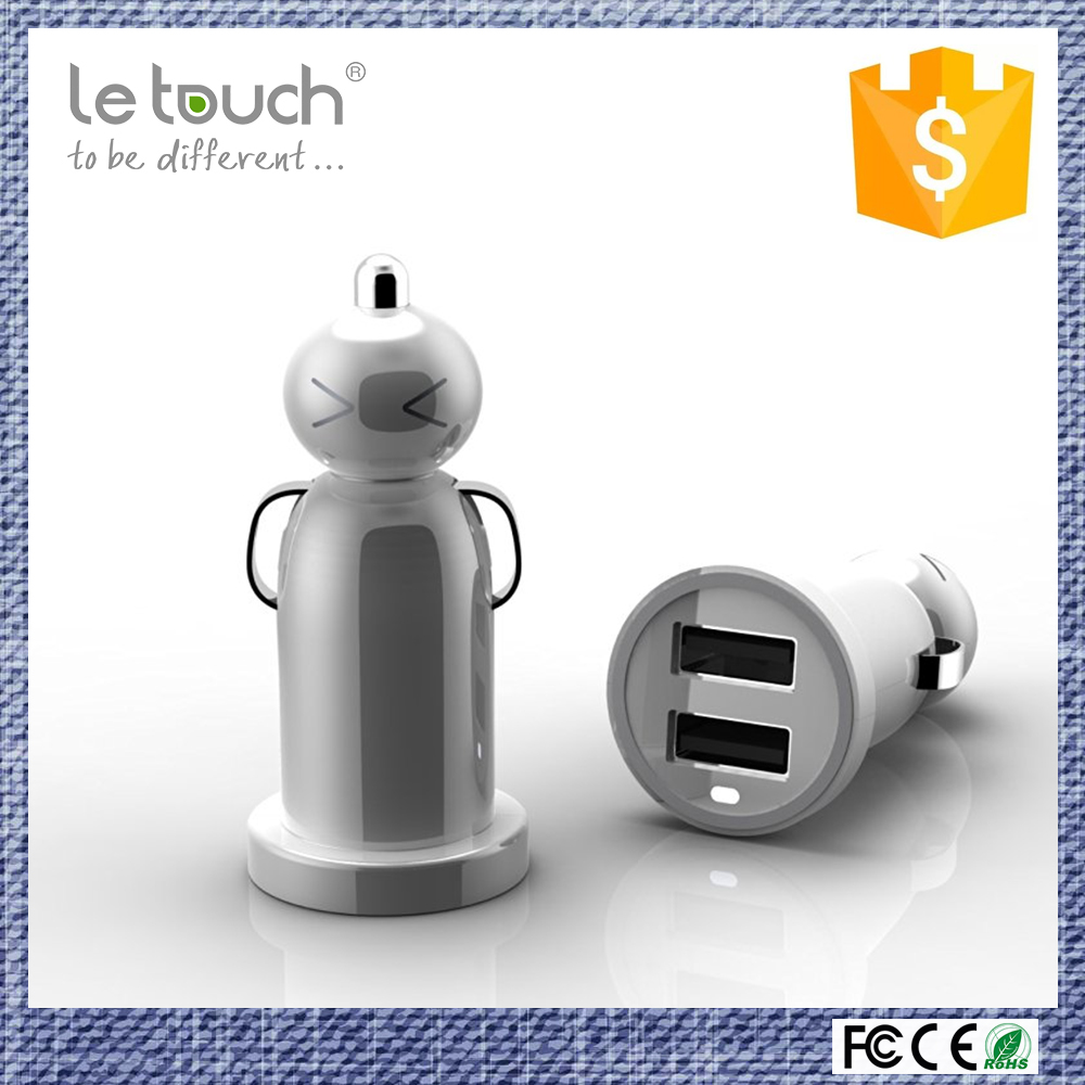 shenzhen electronic accessories lightweight dual usb doll mobile chargers for car and truck