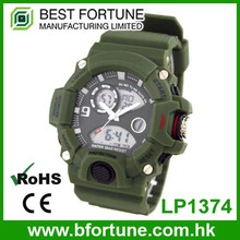 LP1374 ABS military style stainless steel back Multifunction digital watch