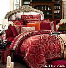 imitated silk cheap bridal jacquard bedding /cheap bed sets/bed linens