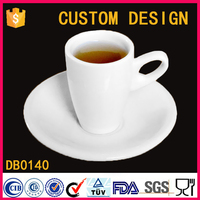 50CC Eco ceramic tea cups plates