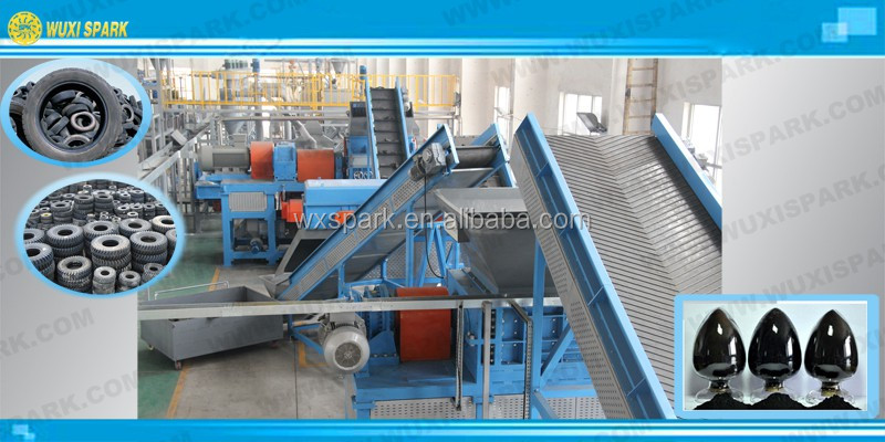 Best Price Used Tire Recycling Machine With German ...