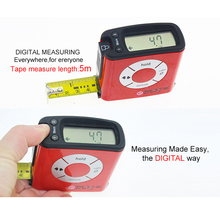 Popular mini Liquid crystal display (LCD) Tape 5M Precise digital display Tape Measure
