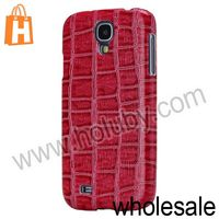 Crocodile Pattern Coated Leather Cover Plastic Case for Samsung Galaxy S4 i9500