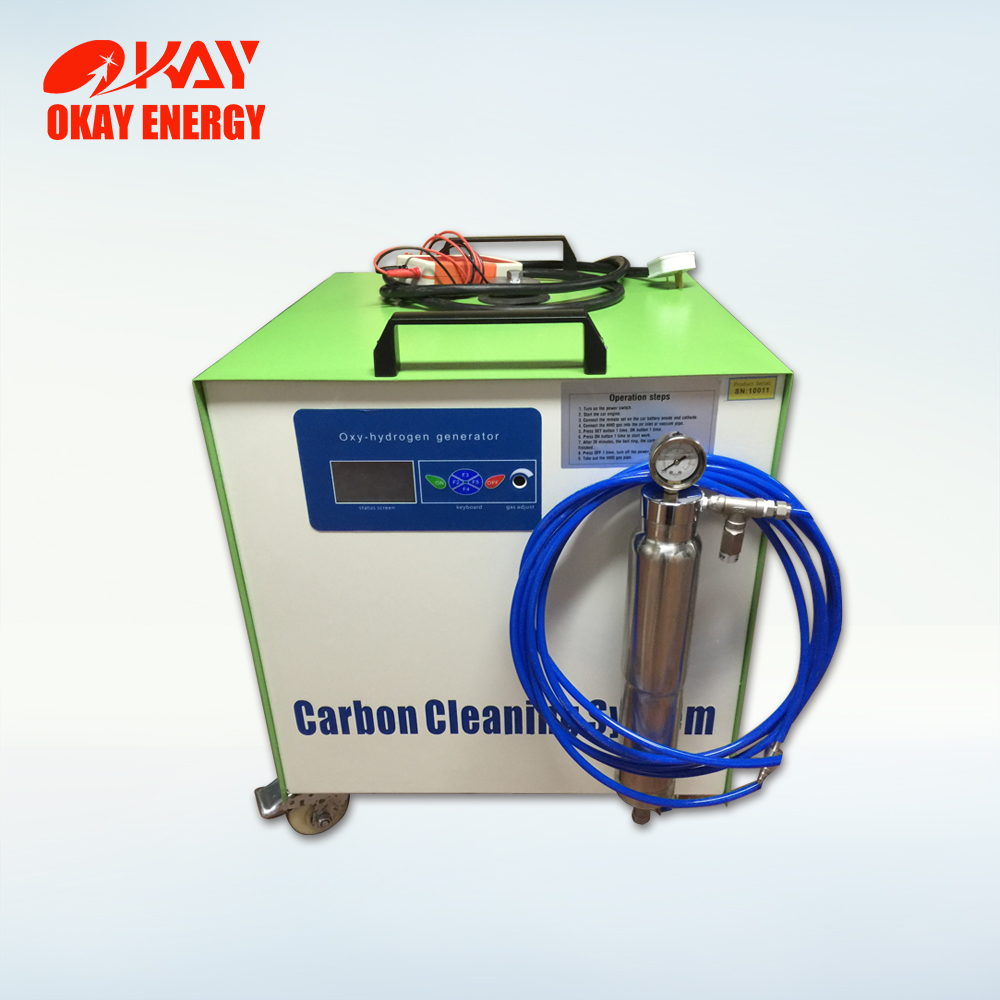 Oxy hydrogen engine cleaning set carbon system device