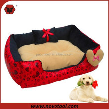 X07323 Factory Supply Soft Red Dog Bed For Sale / Memory Foam Dog Sofa Bed