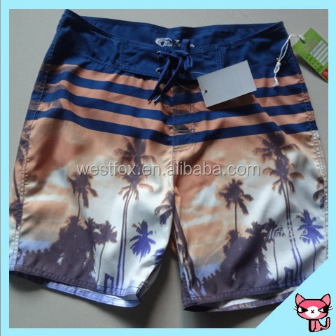 2016 Coconut printing customer unique design Colorful Beach Short