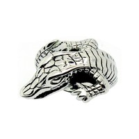 SJ Wholesale Personalized Cheap Titanium Steel Jewelry Alligator Shaped Unisex Cluster Animal Ring