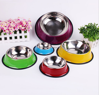New Arrival Dog Stainless Steel Bowl Cartoon Pattern Pet Bowl