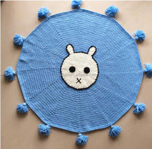 coolwin2017new design crochet rug,lovely animal rug ,crochet mat with cotton tassels