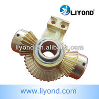 Full tooth wheel conical gear for switchgear