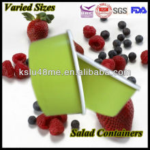 2014Custom Logo Popular Take Away Disposable Paper Container for Salad with Lids