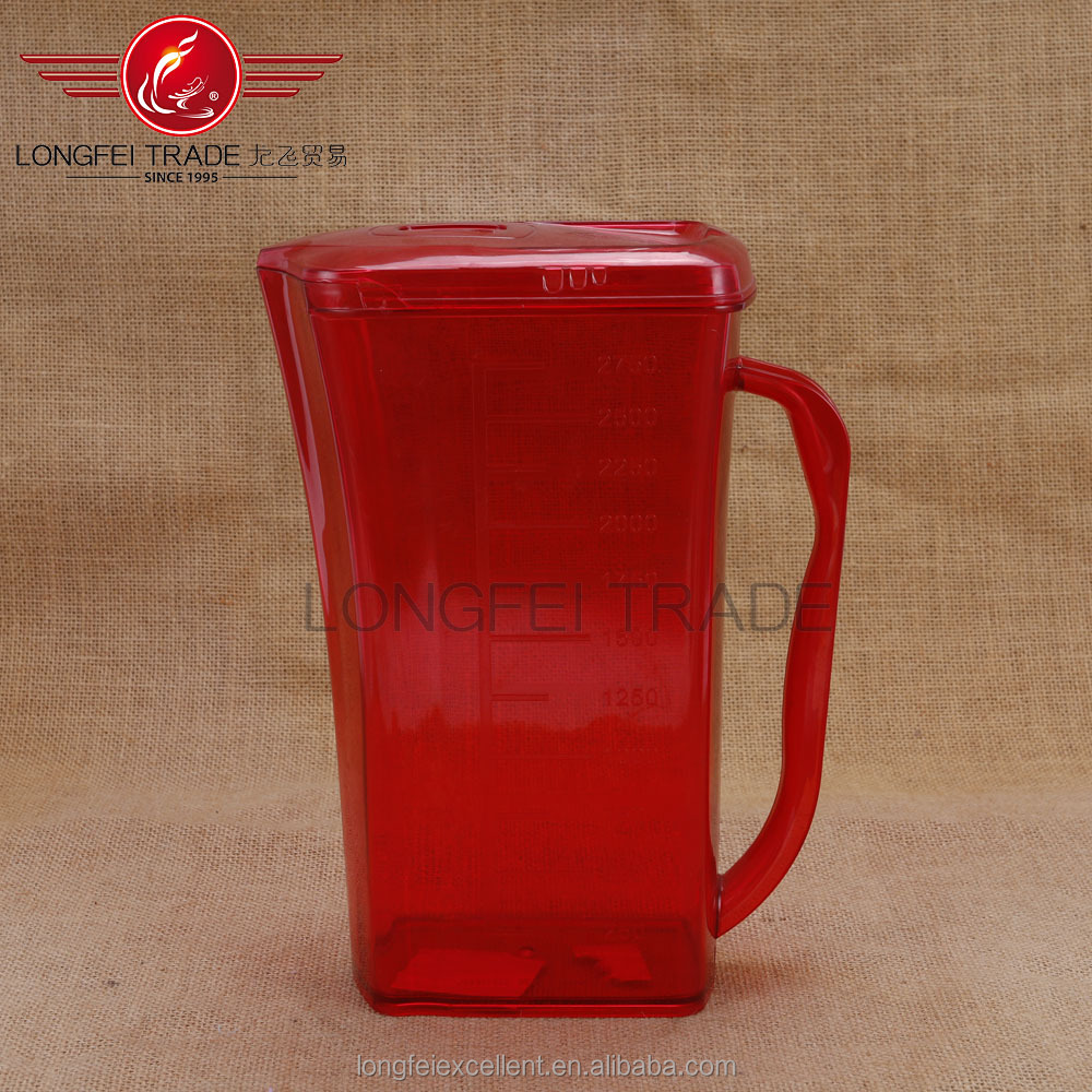 red color New product beautiful design plastic hot water pitcher