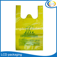 China Manufacture customize printed plastic t shirt bags for shopping