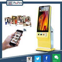 "42"" Stand type LCD multi touch screen kiosk with photo print funtion, advertising display smart board"
