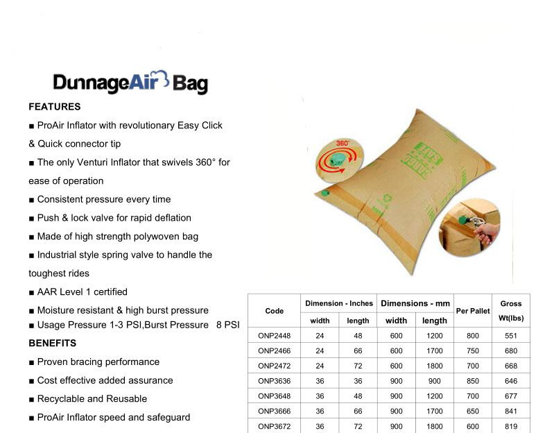 Container Air Dunnage Bags