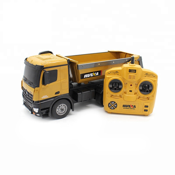 HUINA Toys rc metal dump truck with 10 function 10 Channel 2.4GHz Remote control car Gift for Children huina 1573
