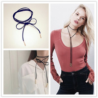 GL25 jewelry wholesale long with black velvet female hip-hop fashion tassel accessories necklace chain