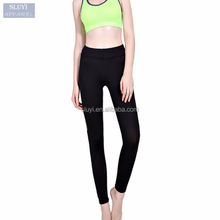 Workout legging High Elastic waist Slim sports Pant Pencil Women Breathable Push-up contrast color fitness leggings for women