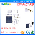 IP44 Camping Home Solar Lighting System With 2 Bulbs 300LM (YH1002)