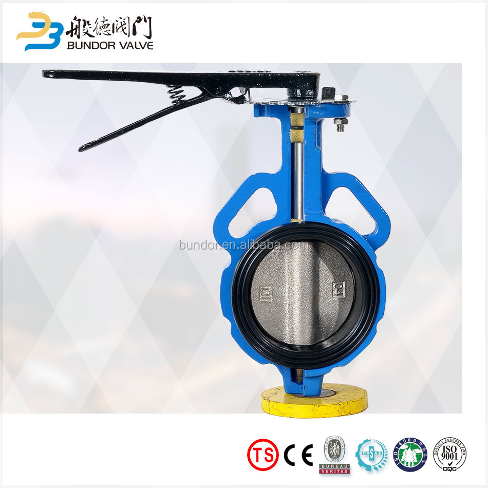 DIN3354 1200MM EPDM Seat Price Wafer Type Butterfly Valve Handles